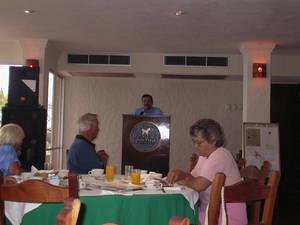 A recent speaker at the Hands Across the Borders Breakfast